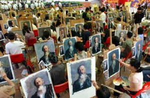 oil painting factory in China